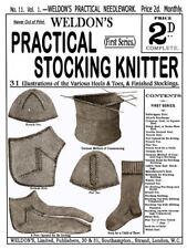 Weldon's 2D #11 c.1885 Vintage Sock  Knitting Patterns & Techniques