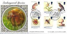 1998 les espèces menacées-Pilgrim shining ram's Horn Escargot officiel