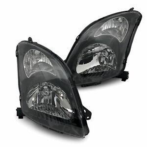 Headlights Black PAIR Fits Suzuki Swift Sport RS416 2005-2010