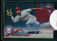 NICK WILLIAMS AUTO 2018 Topps Chrome Autograph Sealed Phillies Rookie Card RC
