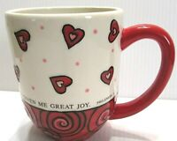 "Dayspring Mug ""Your love has given me great joy"" PHILEMON 1:7 Valentine Cup"