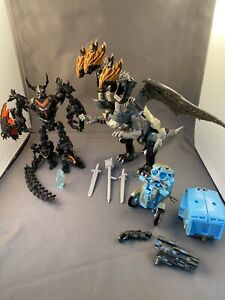 Hasbro Transformers The Last Knight Toy Lot 2017 Dragonstorm Sqweeks Infernocus