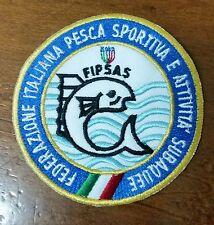 Patch, Toppa, FIPSAS FEDERAZIONE ITALIANA PESCA SPORTIVA