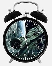 "Star Wars Spaceship Alarm Desk Clock 3.75"" Room Office Decor X42 Nice For Gift"