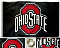 NEW Ohio State Buckeyes Flag in Black Large 3'X5' NCAA FREE SHIPPING