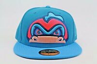 Vermont Lake Monsters Turquoise Infrared Blue MiLB New Era 59Fifty Fitted Hat