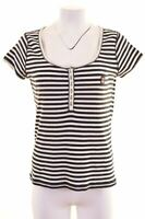 MARINA YACHTING Womens T-Shirt Top Size 14 Large Navy Blue Striped  DN06