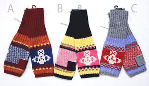 Multi-Earthy Colors TCG Men/'s Hand Knit Wool Striped Mittens