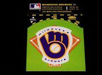 Vintage MLB Baseball Card,1981 FLEER,MILWAUKEE BREWERS  TEAM LOGO STICKER,Record