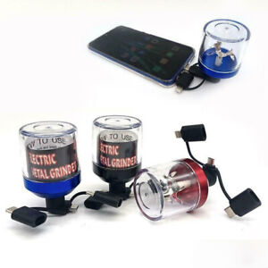 USB Electric Herb Tobacco Grinder Power Up With Android Apple iPhones Control