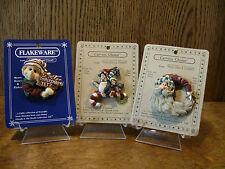 Boyds Flakeware Carver Choice CHRISTMAS Pins; WENDELL JINGLETOES; ARTIGO; SANTA.