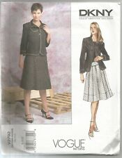 Vogue DESIGNER Sewing Pattern 2792 Donna Karan Jacket Skirt Size 8 - 12 Uncut