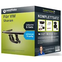 Anhängerkupplung WESTFALIA abnehmbar für VW Sharan +E-Satz Kit (AHK+ES)