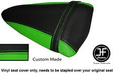 Luz verde y negro personalizado de vinilo cabe Kawasaki Ninja ZX6R 07-08 Cubierta de Asiento Trasero