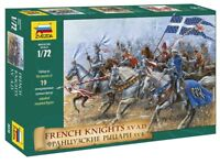 Zvezda 8036, 1:72 Mittelalter Französische Ritter und Kavallerie, GMK, Plastikm.