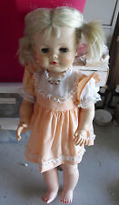 "BIG Vintage 1961 Madame Alexander Chatterbox Blonde Character Girl Doll 23"" Tall"
