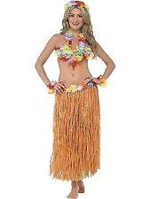 Hawaiian Costume Instant Kit 5pc Hula Honey Fancy Dress Grass Skirt Outfit One Size