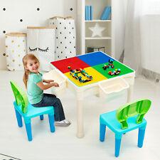 6 in1 Kinder Spieltisch Bausteintisch Kindersitzgruppe Schreibtisch Zeichentisch