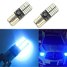 2x Car Auto T10 W5W 4014 24LED Ice Blue Canbus Error Free Side marker Light Lamp