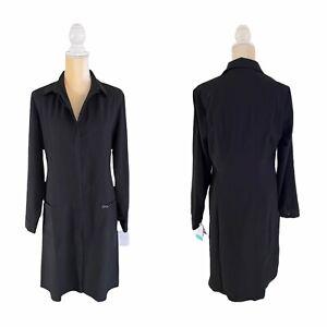 "Cherokee Infinity Women's 40"" Lab Coat - 1401A Black Size M Medium New"