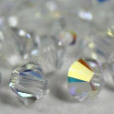 24 pcs Swarovski Element 5328 5301 6mm Xilion Bicone Crystal CLEAR AB (1X)