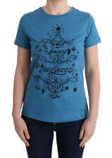NEW DOLCE & GABBANA T-shirt Crewneck 2017 Motive Print Blue Cotton s. IT44 / L