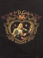 Nirvana Kurt Cobain T Shirt LYRICS DUMB Size L Vintage Giant Rare OOP