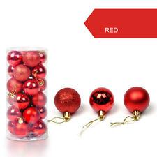 Weihnachtskugeln Christbaumkugeln Baumschmuck Weihnachtsbaumschmuck Deko 24er DE