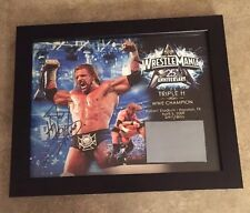 Triple H WWE WrestleMania 25th Anniv. Autograph Signed Framed Plaque /500 RARE