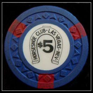 "HARD TO FIND / Vintage 1950's ""Binion's Horseshoe Club"" $5.00 Chip / Las Vegas"