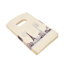 100pcs Yellow Eiffel Tower Packaging Bags Plastic Shopping Bags With Handle JR