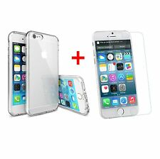 New iPhone 7 Transparent Silicone Case and Tempered Glass Screen Protector