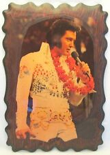 "**ELVIS ALOHA FROM HAWAII**WOODEN PLAQUE*VINTAGE*1973**USED**15""WIDE & 22"" LONG"