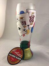 Lolita Poker Pilsner Retired Painted 22oz Beer Glass