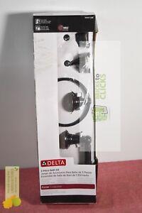 Delta Porter 3-Piece Bath Hardware Set Towel Ring & Bar, Toilet Paper Holder