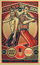 IGGY POP JOSHUA HOMME CONCERT POSTER LIMITED EDITION SCREEN PRINT BY LARS KRAUSE
