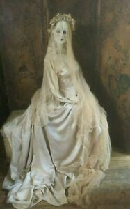 ANTIQUE ORIGINAL 1920s BRIDAL SATIN WEDDING DRESS/GOWN