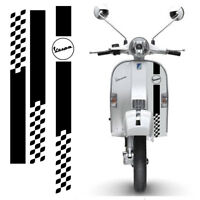 Vespa Scooter Adesivi sticker quadri e Strisce scontornate pvc cropped 3 pz
