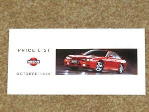 1996 NISSAN PRICE LIST - Micra 200SX Primera QX Almera Terrano Patrol Vans P/Up