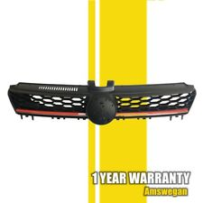 Front Honey Comb Grille Black W/ Red Trim for VW GTI Golf 2015 2016