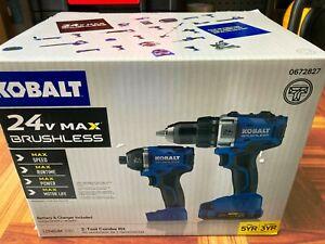 Brand New Kobalt 24v Max Brushless Power Tool Combo Kit (+Battery and charger)
