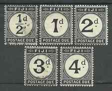 FIGI SGD6-10 THE 1918 POSTAGE DUE SET MIXED MINT AND USED CAT £97.75