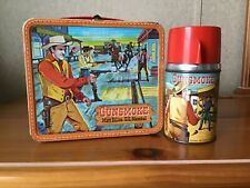 Vintage Gunsmoke Lunchbox And Thermos
