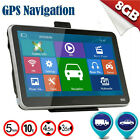 "2016 Hot 5"" inch GPS SAT NAV Car Navigation System Newest 8GB AU EU Free Maps OU"