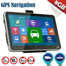 "2016 Hot 5"" inch GPS SAT NAV Car Navigation System Newest 8GB AU EU Free Maps IB"