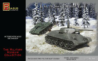 Pegasus 7661 WWII Soviet T-34/76 Tanks Set of Two 1/72 Scale Plastic Model Kits