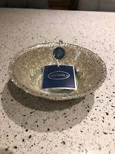 Azzurra Handmade Decorated Glass Dish - 100% Silver Gilt Hand Made in Turkey New