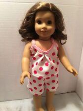 """Doll Clothes Fits American 18"""" Girl Doll Tank Top Shorts Pajamas Polka Dots NEW"""