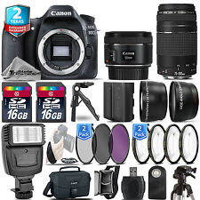 Canon EOS 80D Camera + 50mm STM + 75-300 + EXT BAT - 32GB Kit  + 2yr Warranty