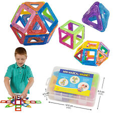 50 pcs Magnetic Toy Building Blocks Shapes Set 3D Kids Toys Great Gift w/ Box